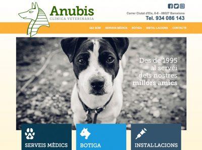 Web Anubis Clínica Veterinària
